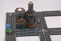 City block roads 6mm scale 1/300 Epic Battletech Mechwarrior. Unpainted scenery