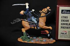 BRITAINS 17565 UNION CAVALRYMAN PRIVATE MOUNTED METAL TOY SOLDIER FIGURE NO.7
