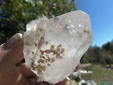 NEW FIND___Adularia Phantoms__LARGE VERY RARE Arkansas Quartz Crystal DT Cluster
