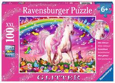 100 Teile Ravensburger Kinder Puzzle XXL Glitter Pferdetraum 13927