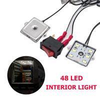 Waterproof 48 LED 5730 Truck Cargo Bed White Interior Light Kit For Van DC 12V
