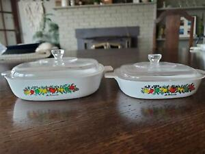 Vintage Corning Ware Child's Toy Play Set Casserole Plastic Dishes 1970's Rare