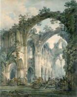Thomas Girtin Interior of Tintern Abbey Poster Reproduction Giclee Canvas Print