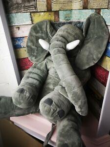 elephant plush grey super soft  jumbo large new toy no tags 21 inches /52 cm