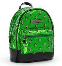 Rock Rebel Frankenstein Studded Quilted Mini Backpack Green Glitter NEW