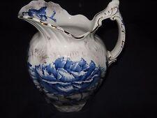 ARCADIA FLOW BLUE PITCHER-DUNN BENNETT CO CIRCA 1891-1907