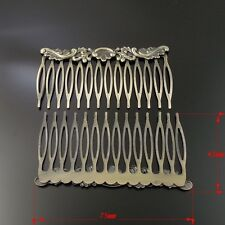 6PCS Antiqued Bronze Tone Vintage Iron Metal Hair Accessories Comb 75*41MM 33734