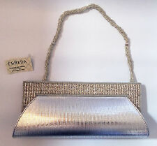 Esbeda Silver Diamanté Evening Clutch Bag Handbag Purse - (VPU06)