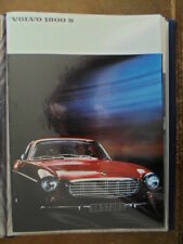 VOLVO 1800S SPORTS CAR orig 1966 USA Mkt Sales Brochure - P 1800 S