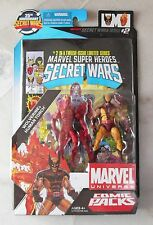 NEW Marvel universe Comic 2 Packs Secret Wars #2 WOLVERINE & HUMAN TORCH