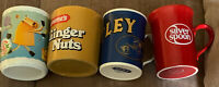 Lot Of 4 Vintage Advertising Mugs Anchor Tetley Silver Spoon Mcvities Ginger Nut