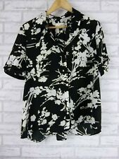 Sportscraft signature top/ blouse size 12 white green floral print