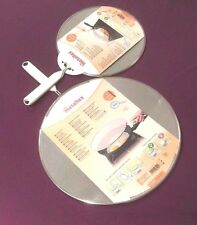 2 x Metaltex Aluminium Screen Mesh Splatter Assorted sizes 29 &21cm