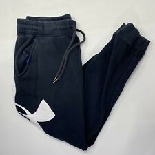 Under Armour Black Men's Track Jogger Pants Size XL Sweatpants Tapered Cold Gear