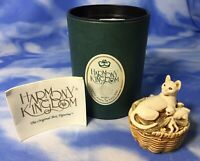 "HTF Harmony Kingdom ""Cat's Cradle Too"" Kitten Basket Box Figurine TJCA6B w/ BOX"