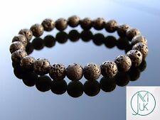 Lava Rock Stone Natural Gemstone Bracelet 7-8'' Elasticated Healing Stone Chakra