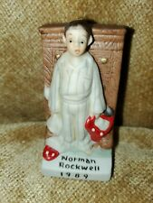 """Vintage Norman Rockwell 1989 Boy Figurine Tree Ornament Discovery 3.5"""" Tall"""