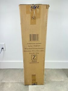 """NEW Zline 1PCEXT-KF1 Chimney Extension 36"""" For 9 to 10 Ft. Ceilings Fits KF1 KF2"""
