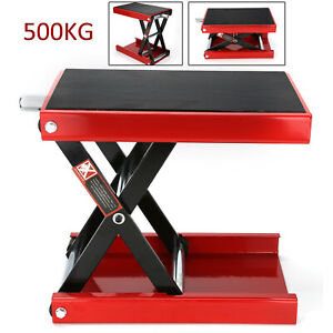Perfect 500KG  Motorcycle Table Bench Workshop Scissor Lift Jack Stand Paddock