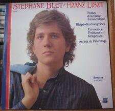 STEPHANE BLET/FRANZ LISZT RARE DEDICACE FRENCH LP FORLANE 1987 DIGITAL