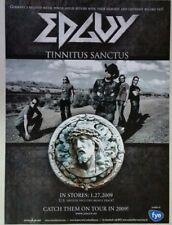 "EDGUY ""Tinnitus Sanctus"" Full Page AD magazine clipping power metal 2009"