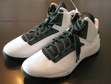 SZ 18 Under Armour TB Micro G Torch Men's Basketball Sneakers Green & White NEW
