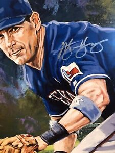 Michael Young Autographed Limited Edition Fine Art Print Signed Rangers