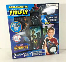 Firefly BLACK PANTHER 3in1 Body Wash Shampoo Conditioner Water Blaster Bath Set