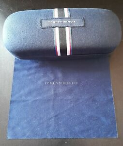 Tommy Hilfiger Blue Fabric Logo Hard Clamshell Glasses Sunglasses Case Only (a)