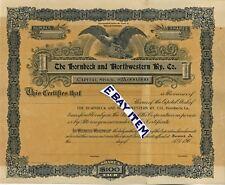 1906 HORNBECK & NORTHWESTERN RAILWAY Louisiana SPECIMEN STOCK CERTIFICATE