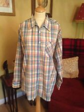 "1950's 'Walbusch Trelegant ' True Vintage L/S Check Cotton Open Nk Shirt 48"" 2XL"