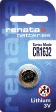 1 x Renata CR1632 Watch Batteries, 3V Lithium, 1632