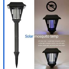 2 LED Garden Lawn Solar Mosquito Killer Light Insect Pest Bug Zapper Lamp Lights