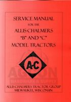 ALLIS CHALMERS B & C TRACTOR SERVICE REPAIR SHOP MANUAL