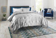 Velvet Comforter Set King Size 3 Piece Silver Gray Soft Plush Luxury Bedding