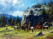 Warriors Quest Western Art Print By Martin Grelle Image Size 12 x 9 SN