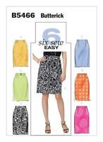Butterick Sewing Pattern 5466 Misses Straight Skirts Belt Size 16-24 Uncut
