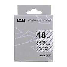 Epson LabelWorks 18mm x 8m Black on Clear Compatible Label Tape LK-5TBN