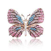 Multi-Color Women Crystal Jewelry Bridal Brooch Pin Butterfly Rhinestone