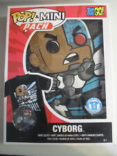 Funko POP! Tees Mini Pack Teen Titans Go! Cyborg Figure & T Shirt Small S