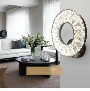 New Modern Ring Crystal 12W LED Wall Lights Sconce Lighting Bedside Lamp Decor