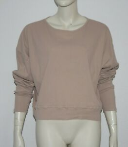 AMERICAN VINTAGE ❤ legeres Oversized Shirt in Rippstrick Beige S/M