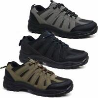 New Mens Ankle High Lace Up Walking Hiking Trail Grip Work Trainers Boots Shoes