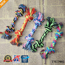 5 X Chew Toy with Knot Fun Tough Strong Puppy Dog Pet Tug War Play Cotton Rope