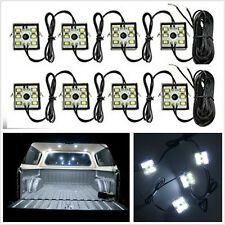8in1 Super Bright White 48LED Car SUV Bed White Neon LED Lighting Lamps & Switch