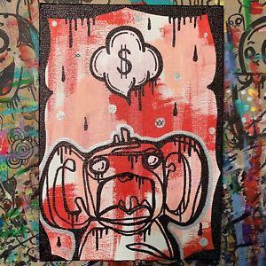 Jencalle Graffiti Art ORIGINAL Street Outsider Pop Modern CANVAS Panel PAINTING