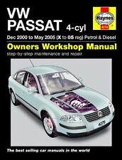 HAYNES SERVICE & REPAIR MANUAL VW PASSAT 4 CYL PETROL & DIESEL 2000 - 2005 4279