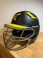 Easton Baseball Batting Helmet Youth-Senior Natural Grip, Navy Blue/Yellow, Used
