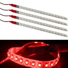 4Pcs Red 30CM 3528 1210 32SMD DC 12V Knight Rider Flexible Flash LED Strip Light