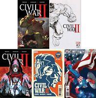 Civil War II #3  #7 (First Print / Variant / Immortal Hulk / 2017/NM) MULTI-LIST